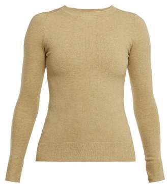 JoosTricot Stretch-cotton Sweater - Womens - Light Green