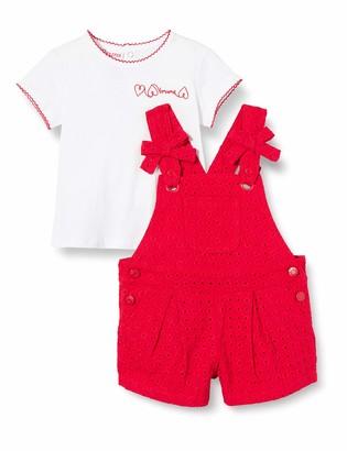 Brums Baby Girls' Compl.2pz:Salopette Sangallo+t-Shirt Jer Clothing Set