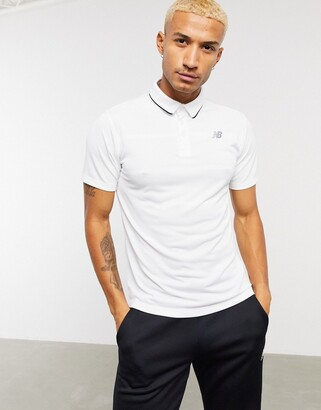 New Balance Tennis rally performance polo shirt in white
