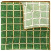 Kiton grid check pocket square