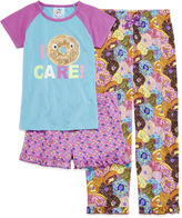 INTERNATIONAL ASSORTED BRANDS Stargate I Donut Care Short-Sleeve 3-pc. Pajama Set - Preschool Girls 4-6x