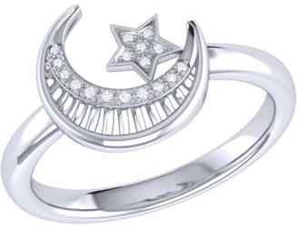 Lmj Starkissed Crescent Ring In Sterling Silver