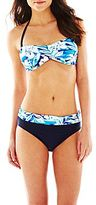JCPenney Ocean Dreams® Pacific Sunset Cove Twist Bandeau Swim Top