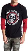 True Religion Ad Mortem Skull Crew Neck Tee