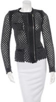 IRO Leather-Trimmed Wool Blend Jacket