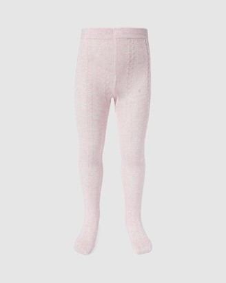 Milky Jacquard Tights - Kids