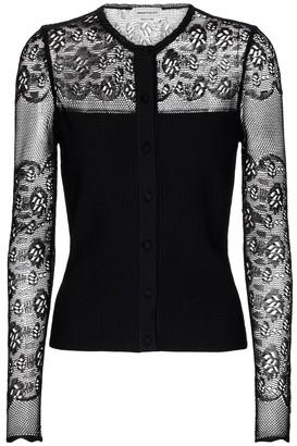 Alexander McQueen Lace-trimmed cardigan