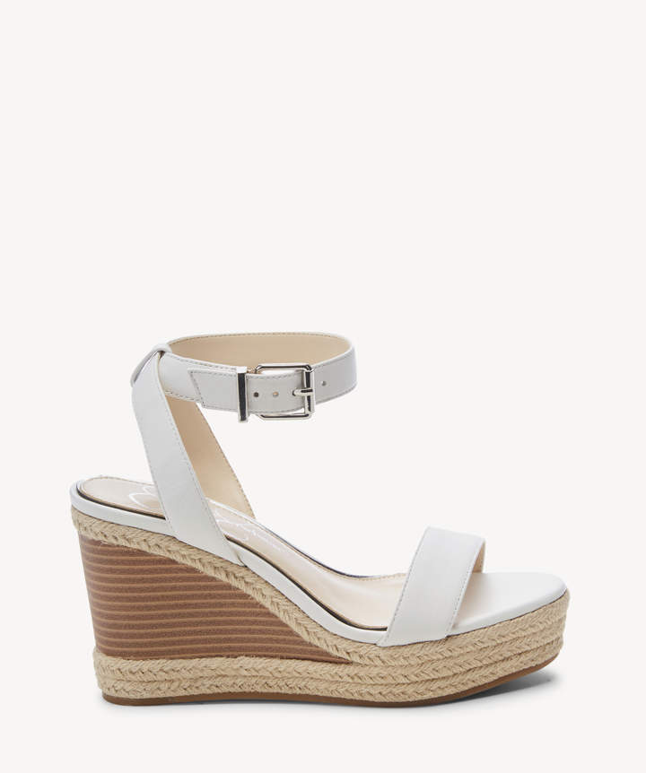 5d4c0a7c777 Women's Maylra Platform Wedges Sandals Bright White Size 5 Leather From  Sole Society