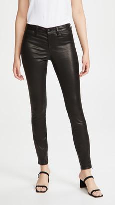 J Brand Mid Rise Skinny Leather Pants