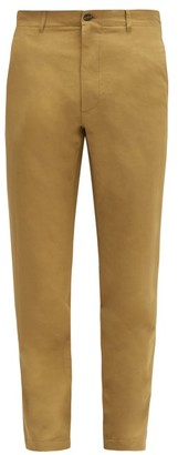 Rochas Technical-blend Chino Trousers - Brown
