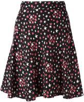 Saint Laurent star print pleated skirt - women - Silk/Viscose - 38
