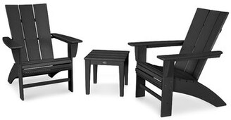 Polywood 3 Piece Seating Group Color: Black