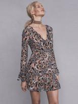 For Love & Lemons Gracie Mini Dress in Nude Floral