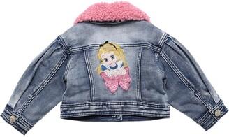 MonnaLisa Stretch Denim Jacket W/ Alice Patch