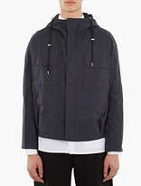 Raf Simons Navy Cotton Hooded Jacket