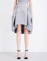 Antonio Berardi Tulip linen-blend skirt