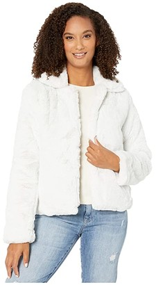 Dylan by True Grit Ultra Lux and Plush Shearling Faux Fur Classic Jacket (Vintage White) Women's Clothing