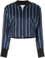 3.1 Phillip Lim zipped striped bomber jacket