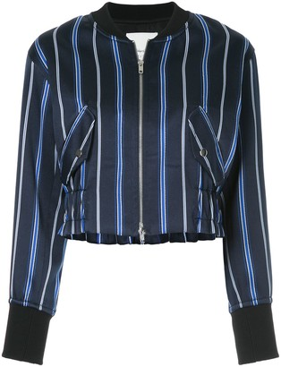 3.1 Phillip Lim zipped striped bomber jacket