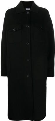 P.A.R.O.S.H. Fringe-Trimmed Longline Coat