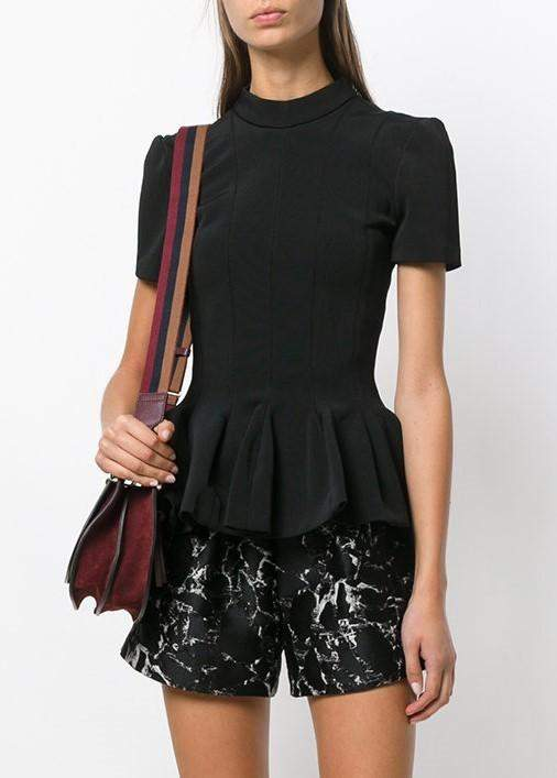 Carven Peplum Top Black