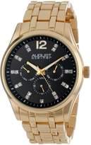 August Steiner Men's AS8068YG Crystal Multi-Function Quartz Bracelet Watch