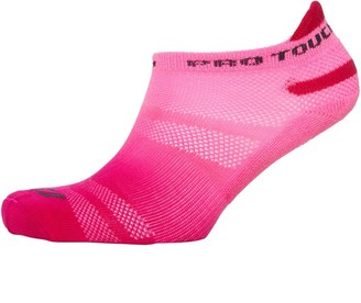 Pro Touch Unisex Cushioned Ankle Tab Running Socks Pink/Red