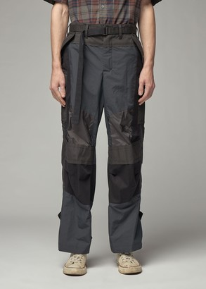 Sacai Men's Fabric Combo Pant in Black Size 1 Cotton/Polyester Paneling