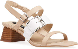 Karl Lagerfeld Paris Maja Two-Tone Slingback Sandals
