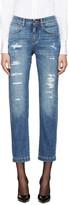 Dolce & Gabbana Blue Ripped Boyfriend Jeans