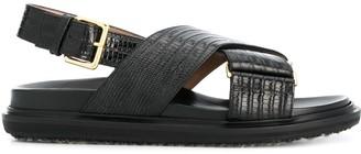 Marni Embossed Strap Sandals