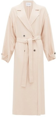 Michelle Waugh - The Jany Double-breasted Belted Trench Coat - Light Pink