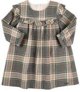Chloé Plaid Cotton Long-Sleeve Dress