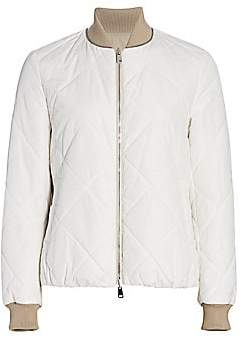 Brunello Cucinelli Women's Quilted Bomber Jacket
