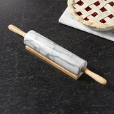 Crate & Barrel French Kitchen Marble Rolling Pin with Stand