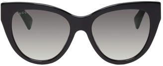 Gucci Black Soft Cat Eye Sunglasses