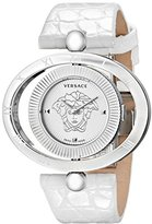 Versace Women's 91Q99D002 S001 Eon Stainless Steel Reversible Bezel White Leather Watch