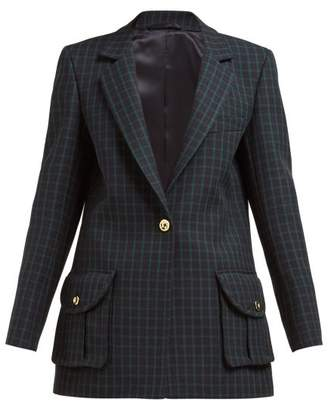 BLAZÉ MILANO Timeless Checked Wool-tweed Blazer - Womens - Green Multi