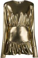 Rotate metallic mini dress