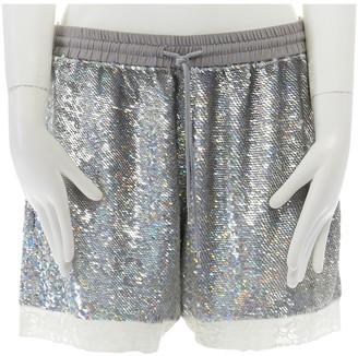 Ashish Silver Glitter Shorts