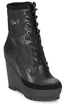 G Star ROMERO MARKER WEDGE II Black / DENIM / Leather