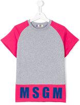 MSGM colour-block logo T-shirt