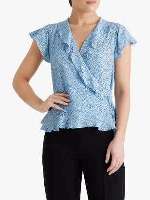 Fenn Wright Manson Petite Oceane Spotted Top, Pale Blue