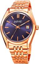 August Steiner Women's Quartz Stainless Steel Casual Watch, Color:Rose Gold-Toned (Model: AS8235RGBU)
