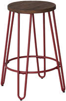 Asstd National Brand Quinn Counter Stool In Matte Red Finish
