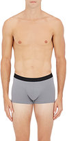 Hanro Men's Logo-Waistband Microfiber Boxer Briefs-GREY