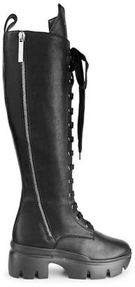 Giuseppe Zanotti Apocalypse Lug-Sole Tall Leather Combat Boots