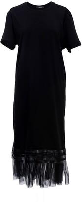 Z.G.Est Tulle Hem T-Shirt Dress In Black