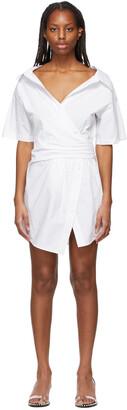 alexanderwang.t White Gathered Button-Down Dress