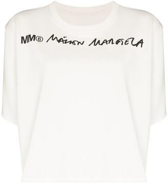 MM6 MAISON MARGIELA printed logo T-shirt